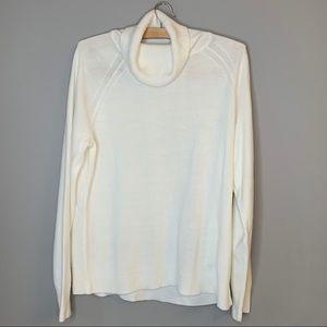 Karen Scott soft ivory turtleneck sweater L